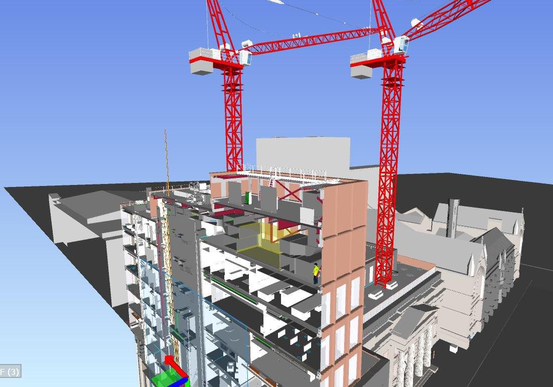 A BIM (Building Information Modelling) view of the Manchester Metropolitan University Arts & Humanities Buildings