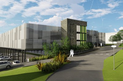 Proposed design of the front entrance to the Burton Hospital Car Park