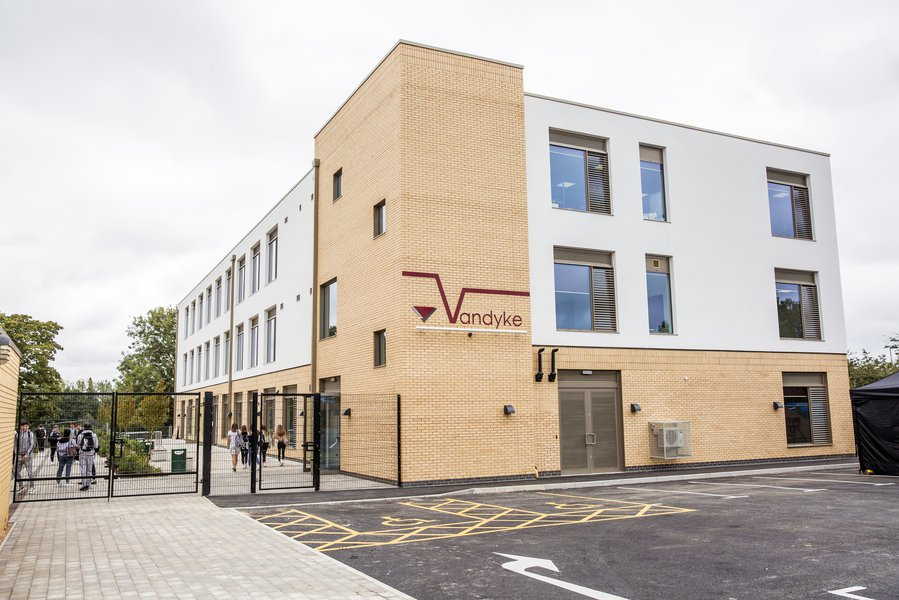 Picture of the Vandyke Upper School which was built by Morgan Sindall Construction