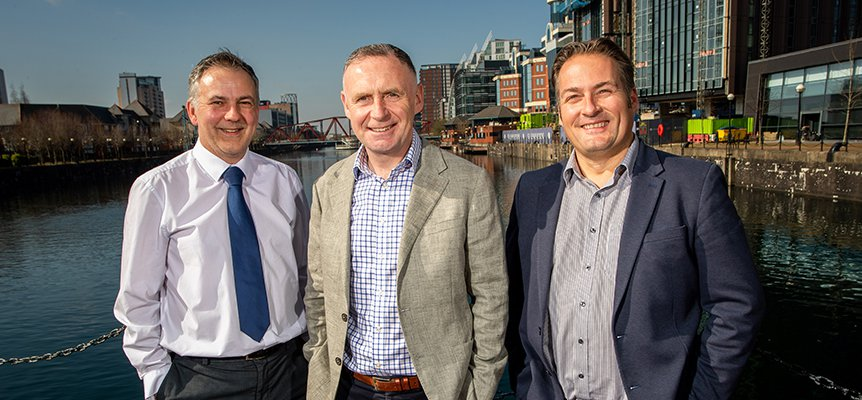 Image of Barry Roberts, Shaun Jones and Richard Potts of Morgan Sindall Construction in the North West