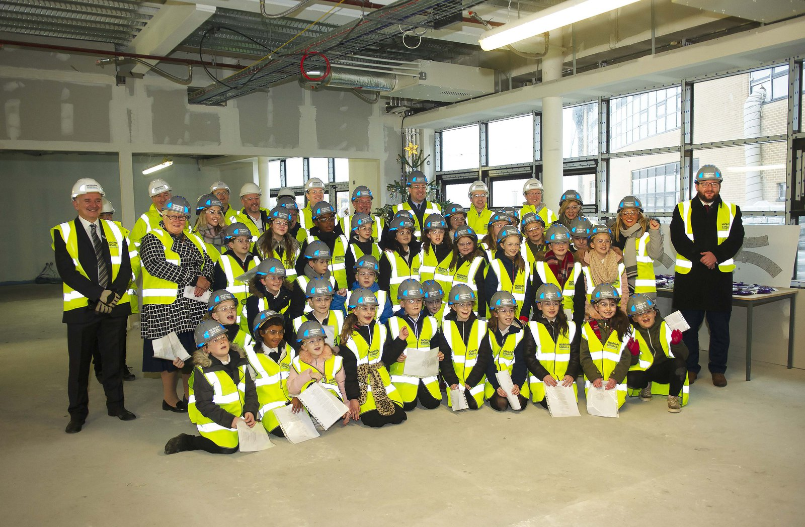 Morgan Sindall Construction and stakeholders at school tour event