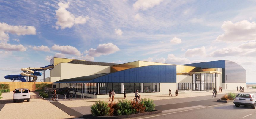 Image of the proposed Great Yarmouth Marina Centre to be built by Morgan Sindall Construction