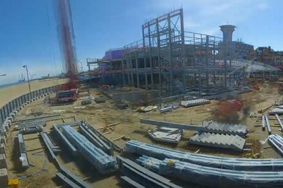 Still taken from the drone footage of the Great Yarmouth Marina Centre in June 2021