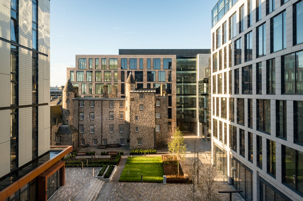 A view of the Marischal Square shopping development in Aberdeen
