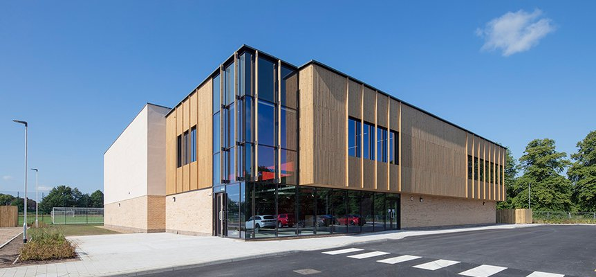 Outside of the completed Market Rasen Leisure Centre