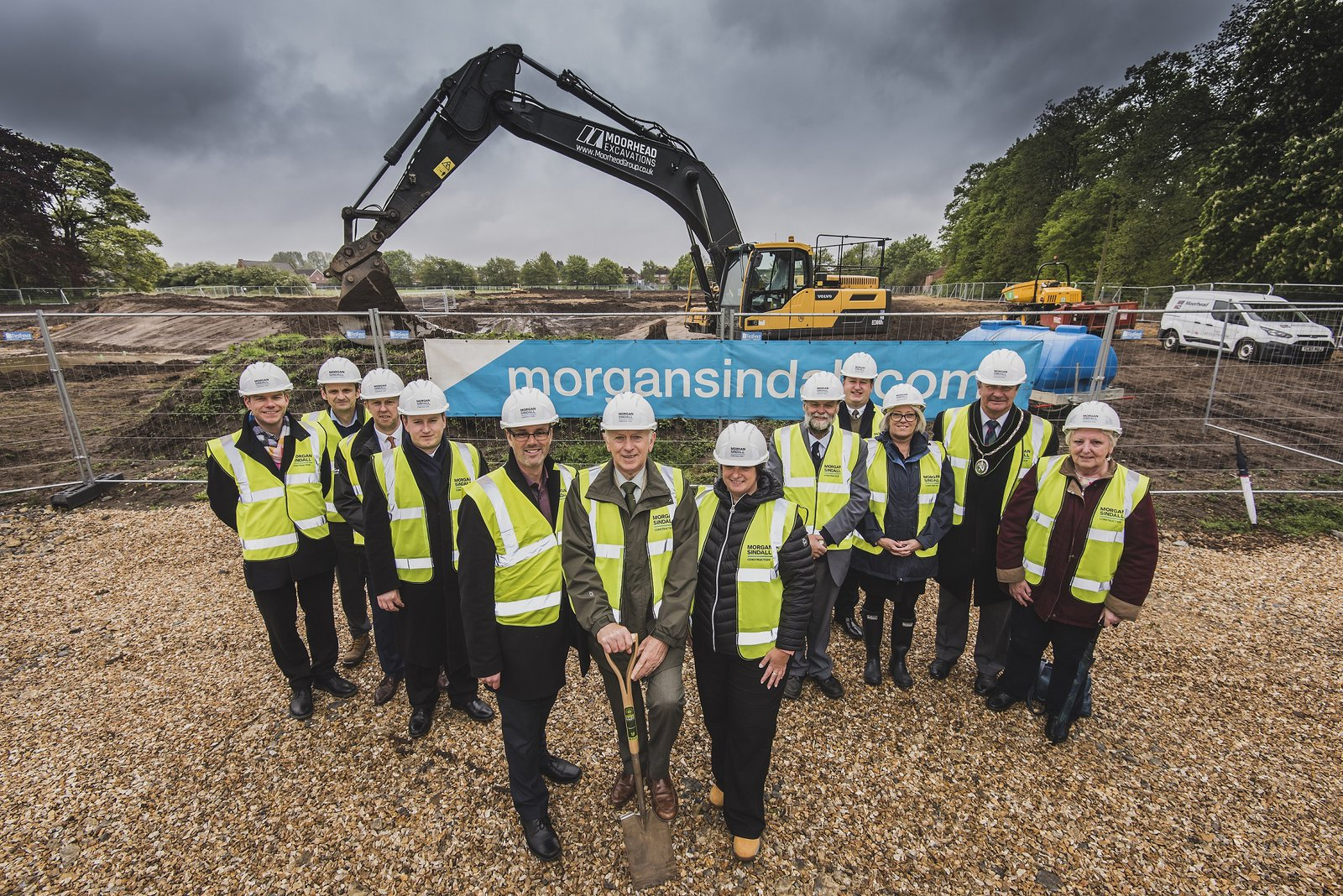 The team pictured at the Market Rasen Groundbreaking event
