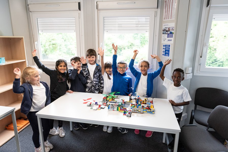 Pupils at the Build your own School event in Derby