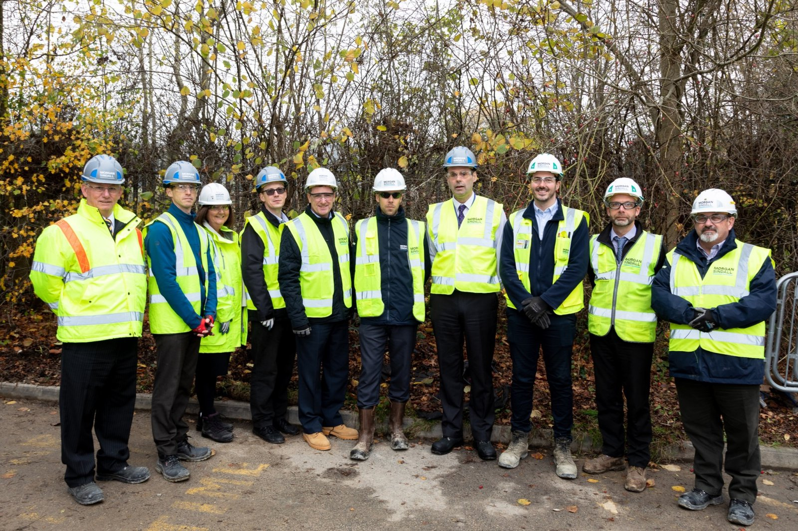 Morgan Sindall Construction and stakeholders at a topping out event