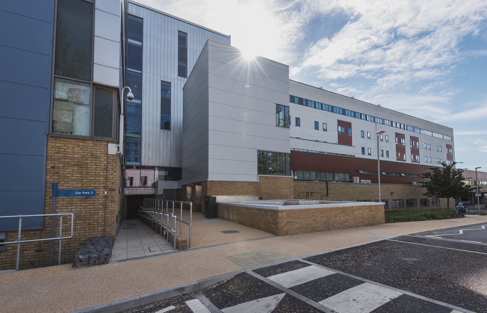 Picture of the outside of the Addenbrookes Hospital Building