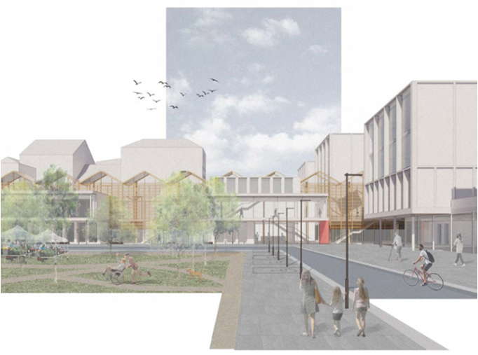 Proposed design for the North Manchester General Hospital Development