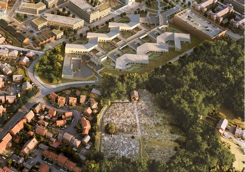 Proposed design of the North Manchester General Hospital development
