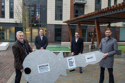 Image of the Slate Yard project team at handover event