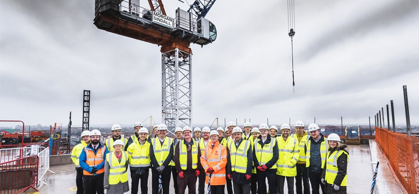 """""""Attendees at Old Library site in Slough to celebrate Milestone"""""""