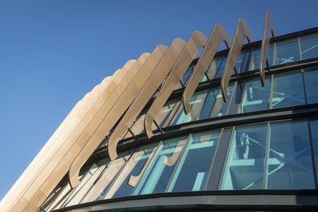 The front of the Oastler Building at the University of Huddersfield which was built by Morgan Sindall Construction