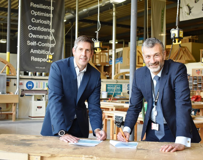 Peter Whitmore, MD for Construction East at Morgan Sindall Construction, and Dr Nikos Savvas, CEO of Eastern Colleges Group.jpg