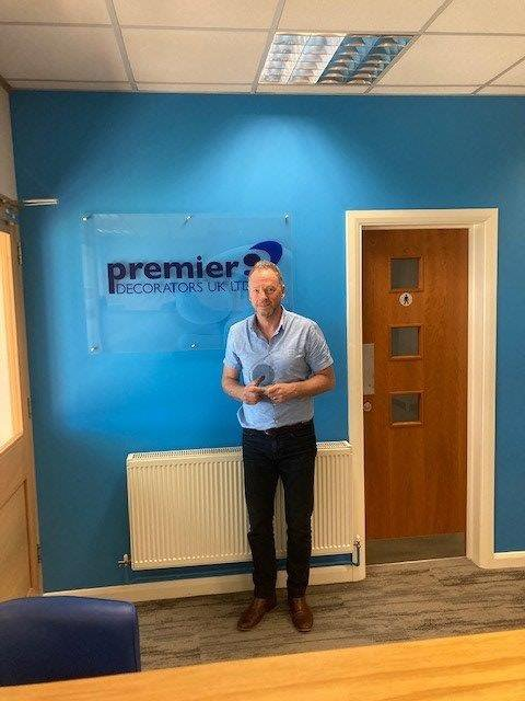 Premier Decorators accepting their Supply Chain Award