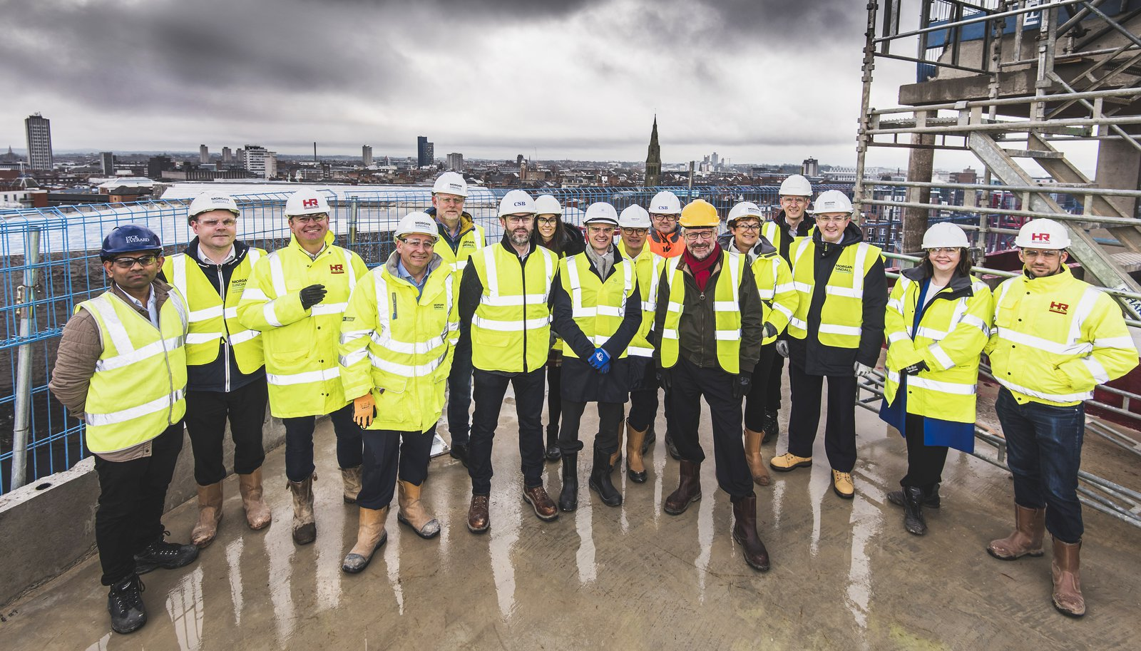 Morgan Sindall Construction Morgan Sindall Construction Team celebrates topping out at £50 million mixed-use regeneration scheme
