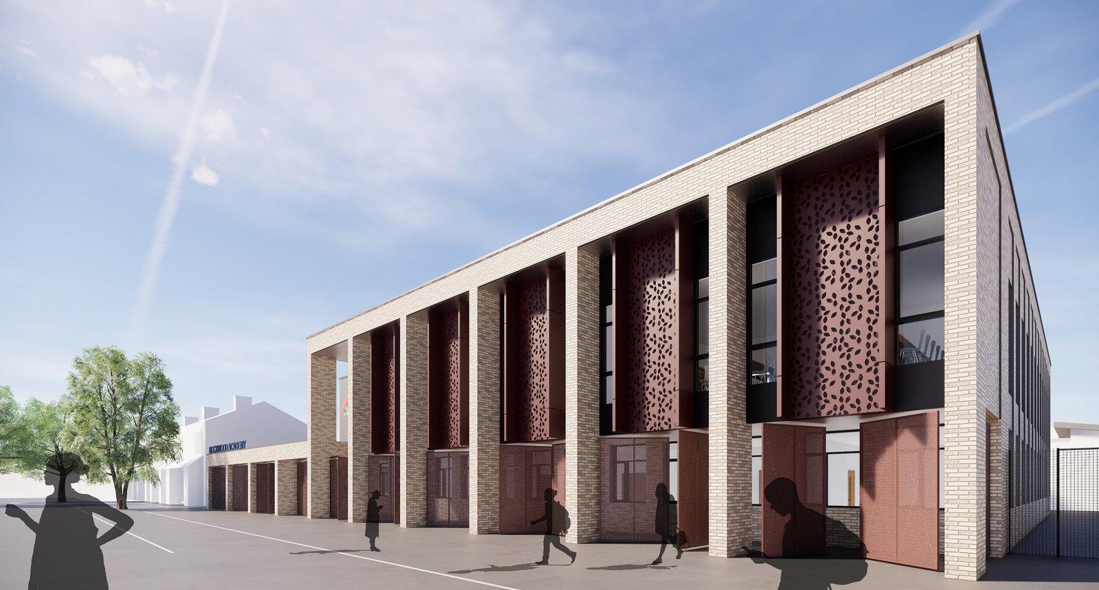 Image of the proposed Rockwood Academy School in Birmingham