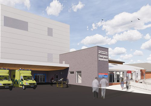 Image of the proposed design for the Royal Devon and Exeter A & E extension