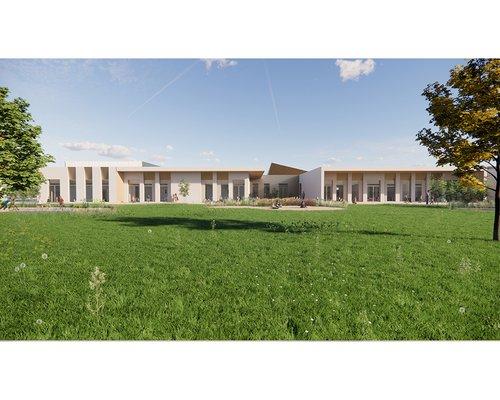 Visual shows the concept for the Alconbury SEND School campus