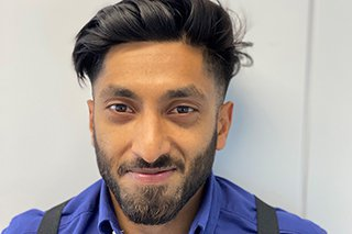 Picture of Sharif Khan, assistant site manager at Morgan Sindall Construction