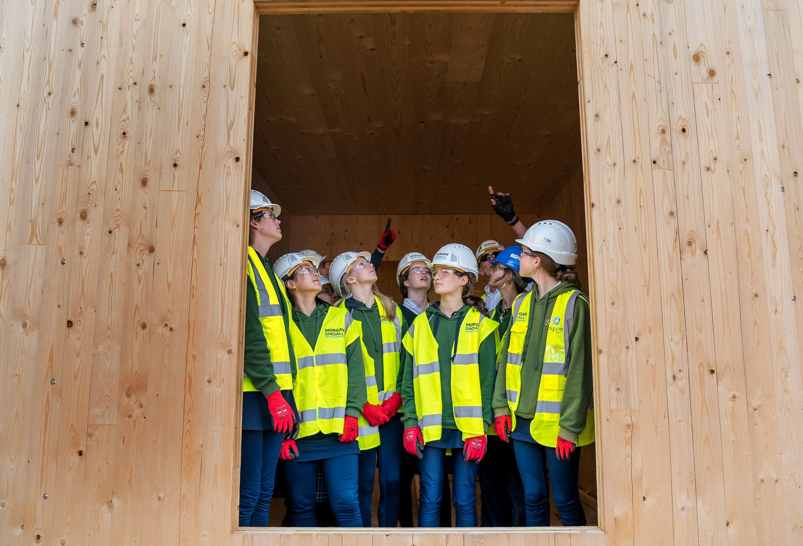 Image of the careers in construction event and site tour at Sherborne Girls School