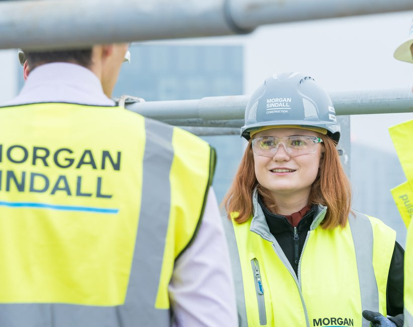 A Morgan Sindall Construction pictured on site