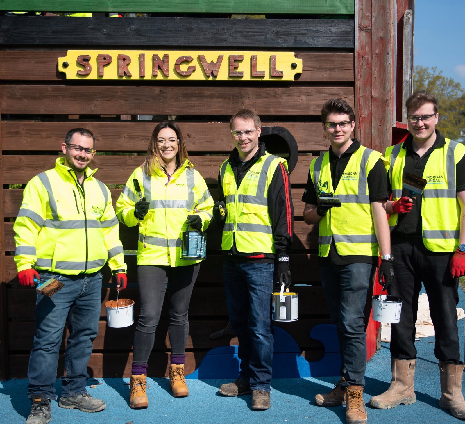 Volunteers from Morgan Sindall Construction at Springwell School