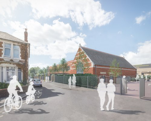 Proposed design of the St Mark's School in Southampton