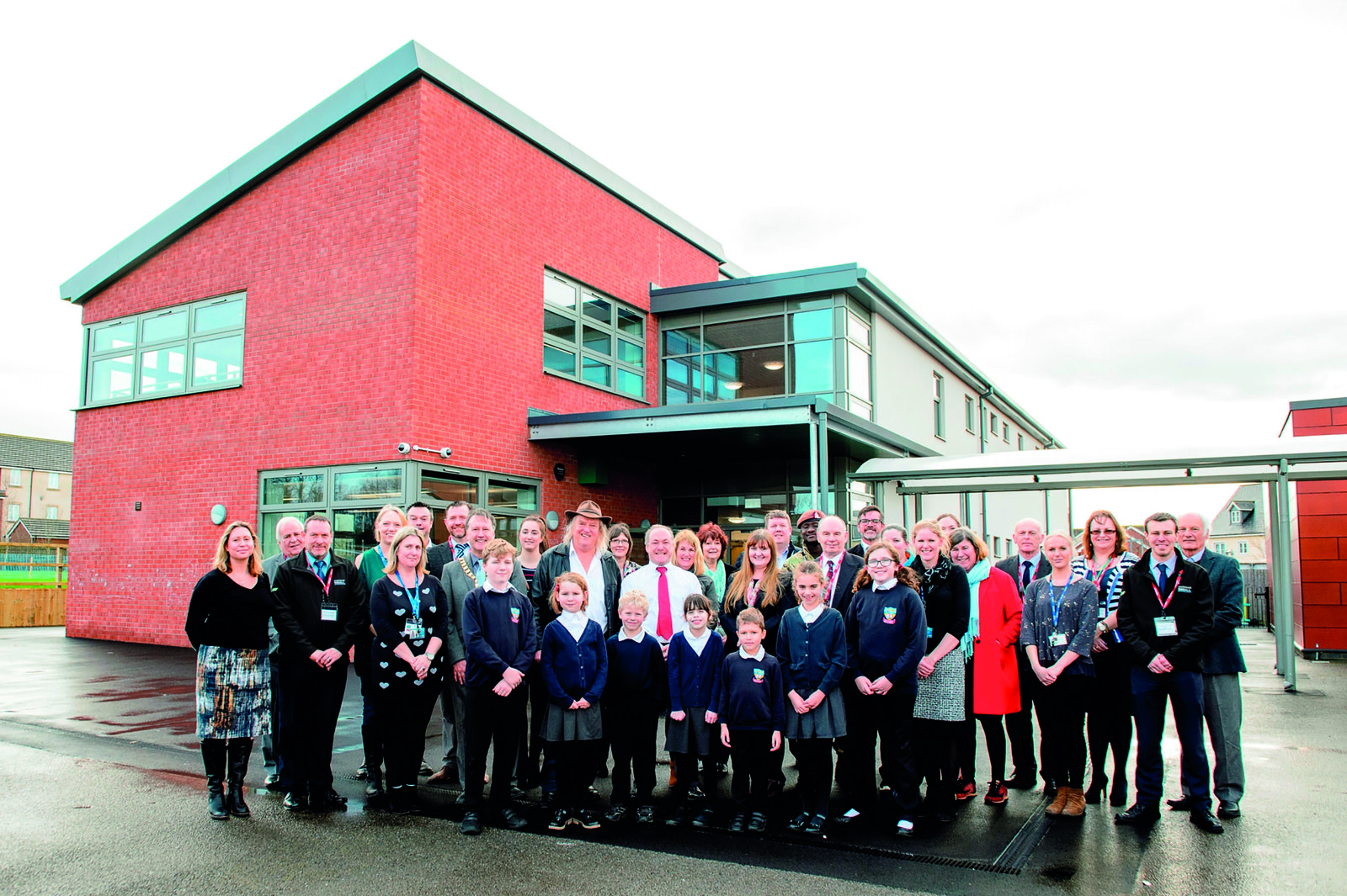 Image of the team at the handover event for Old Sarum Primary School