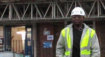 Image of Takunda Chabva, site manager for Morgan Sindall Construction
