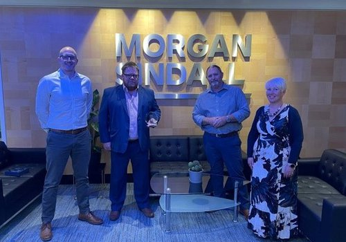Tamdown Team accepting their supply chain award