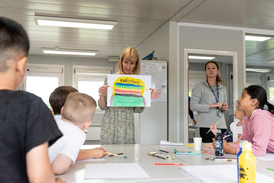 Picture of the build your own school event held by Morgan Sindall Construction