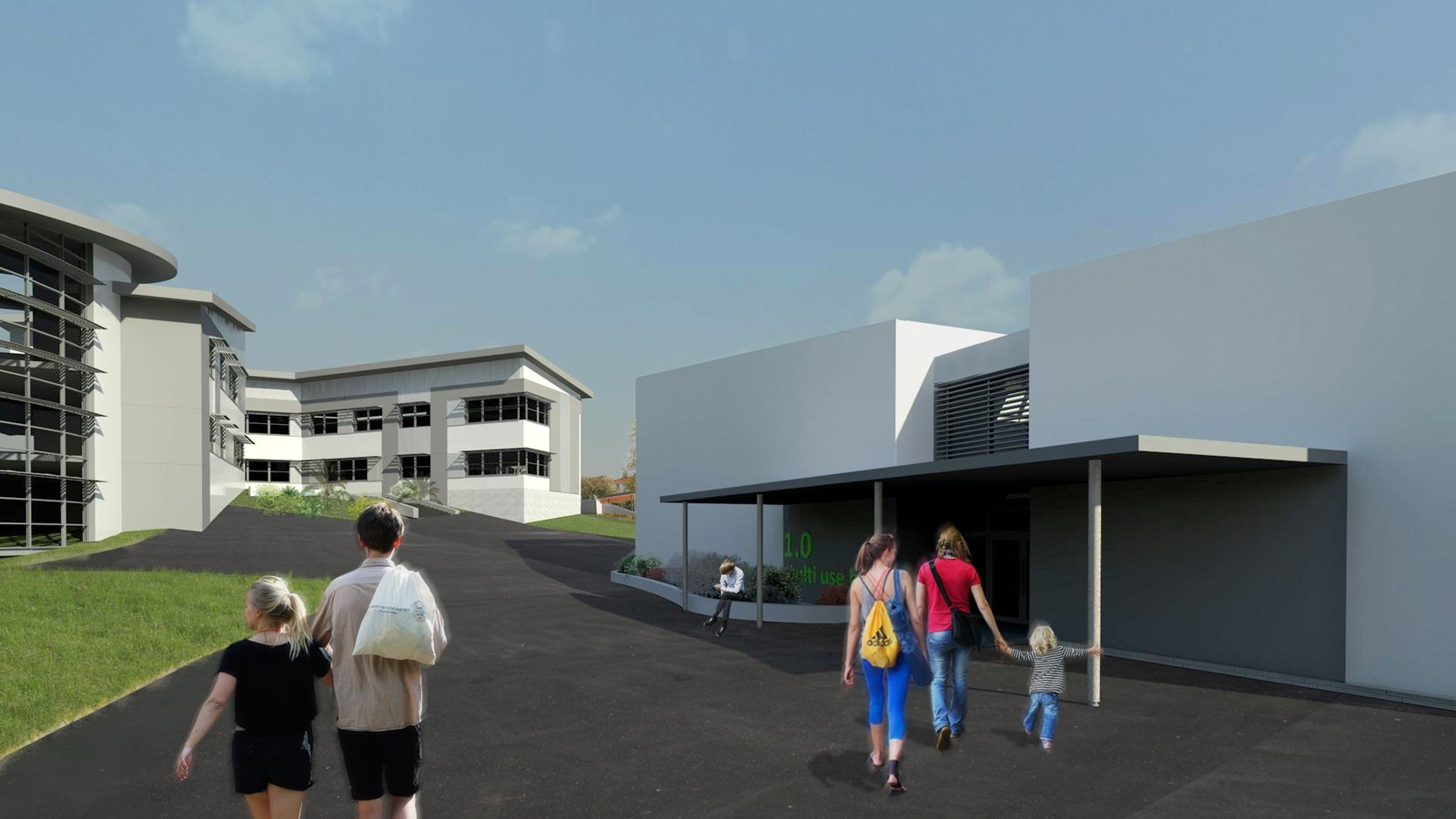 Image of the proposed extension to Torquay Academy