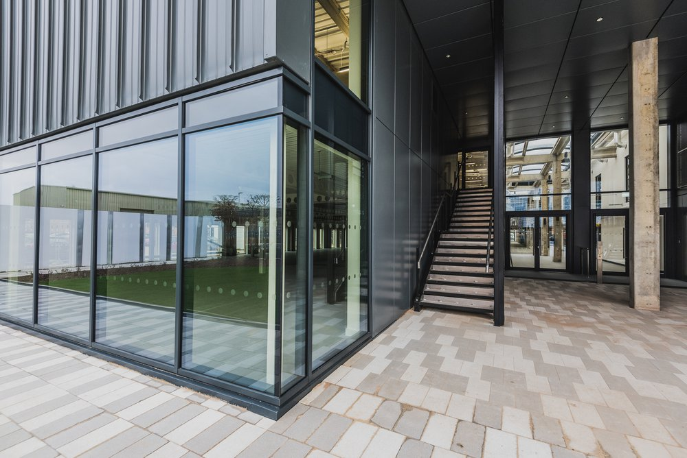 View of the front entrance to the Sawston Unity Campus