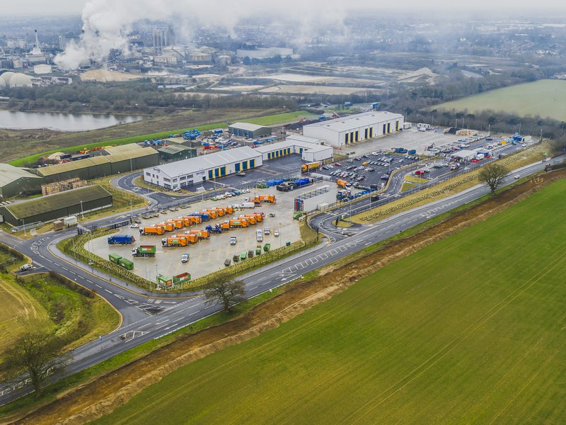 Aerial view of the West Suffolk Operational Hub