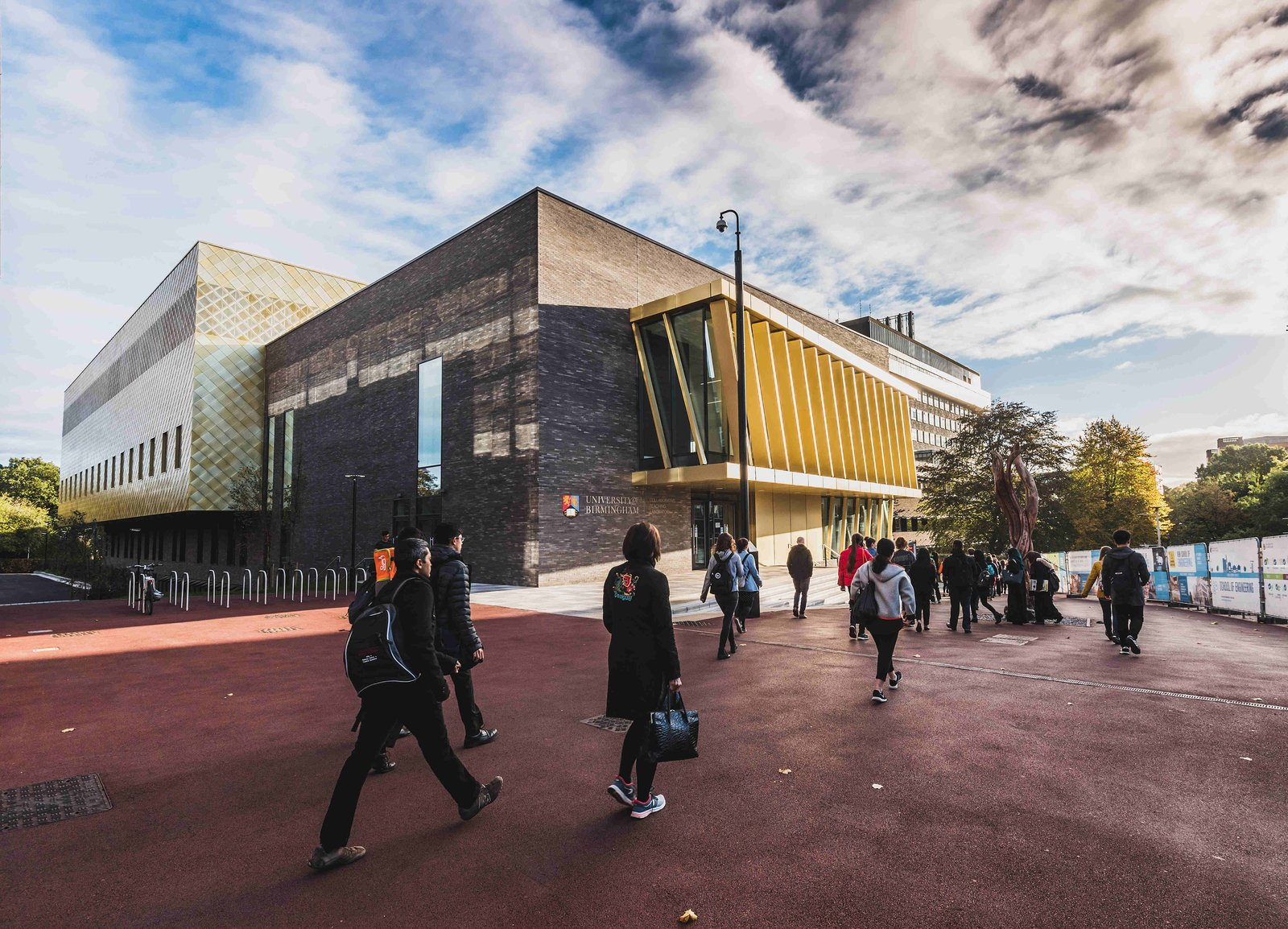 Image of the front of the Collaborative Teaching Laboratory at the University of Birmingham