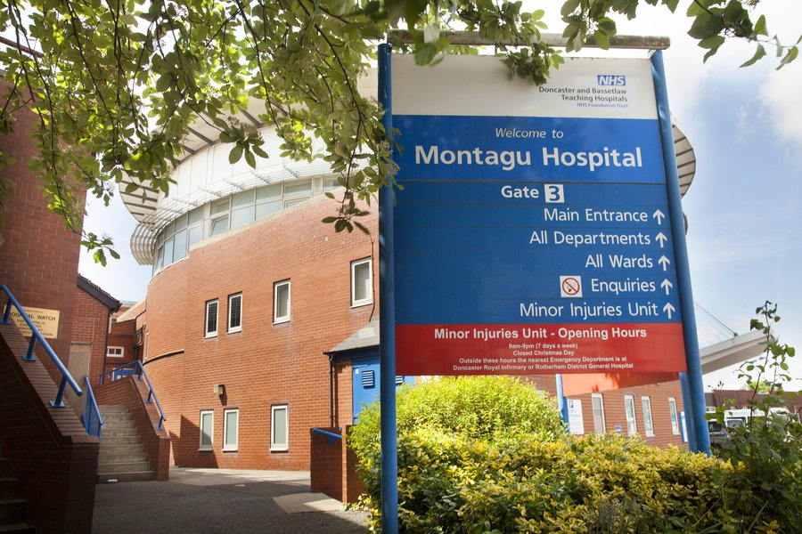Image of the signage at Doncaster Hospital