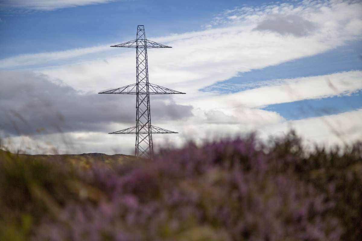 A view of electrical equipment as part of the SSEN Knocknagael to Tomatin project