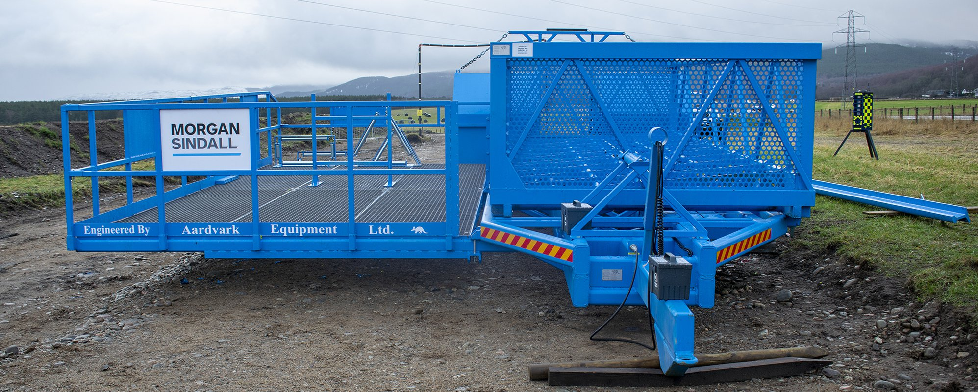 Duct deployment trailer used on our SSEN project