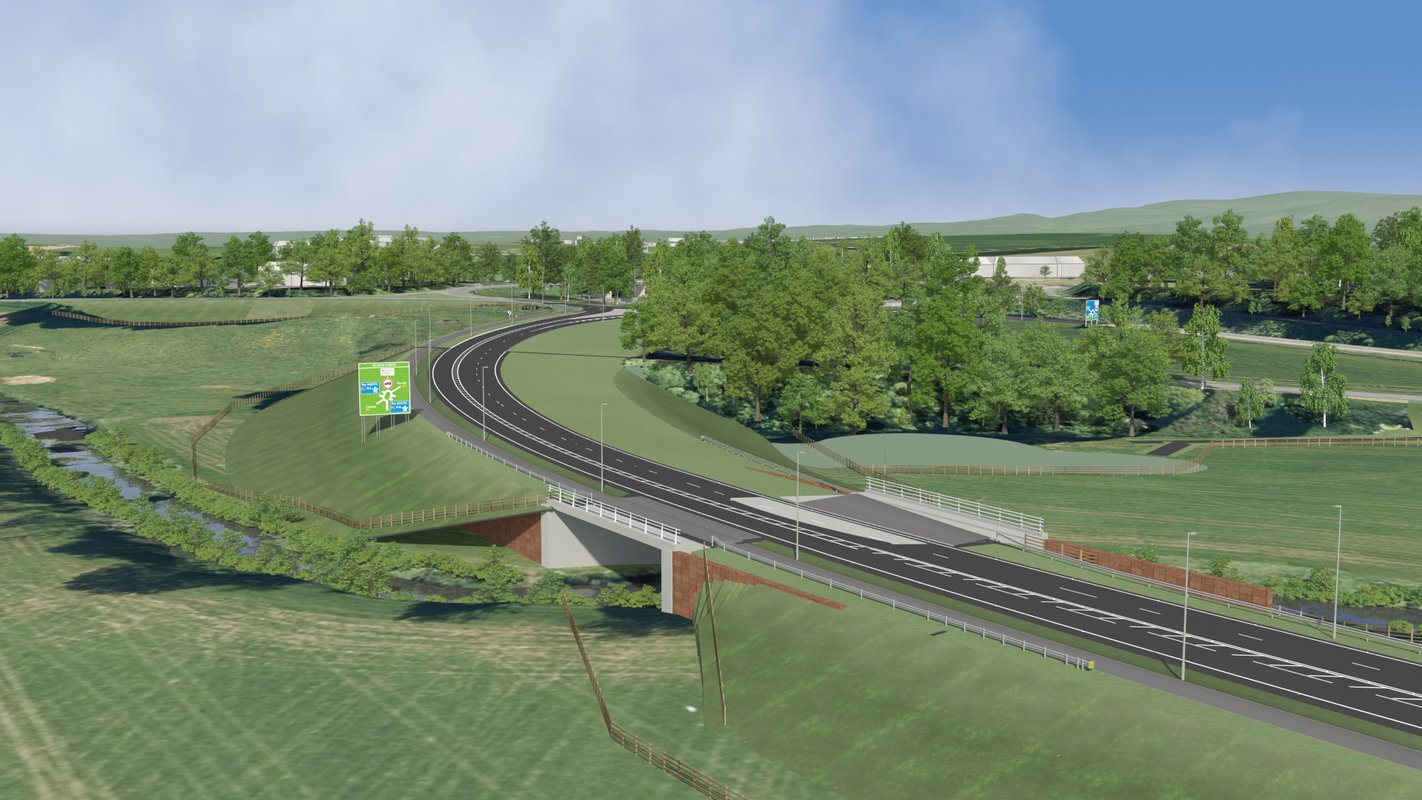 An artist's impression of the Carlisle Southern Link Road