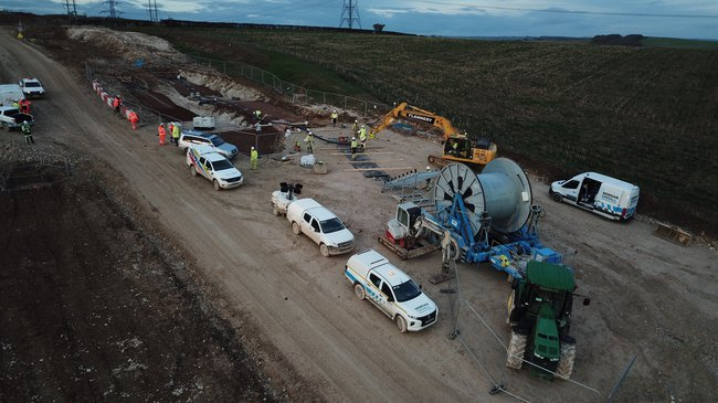 Installation of our 400Kv Cable at Dorset