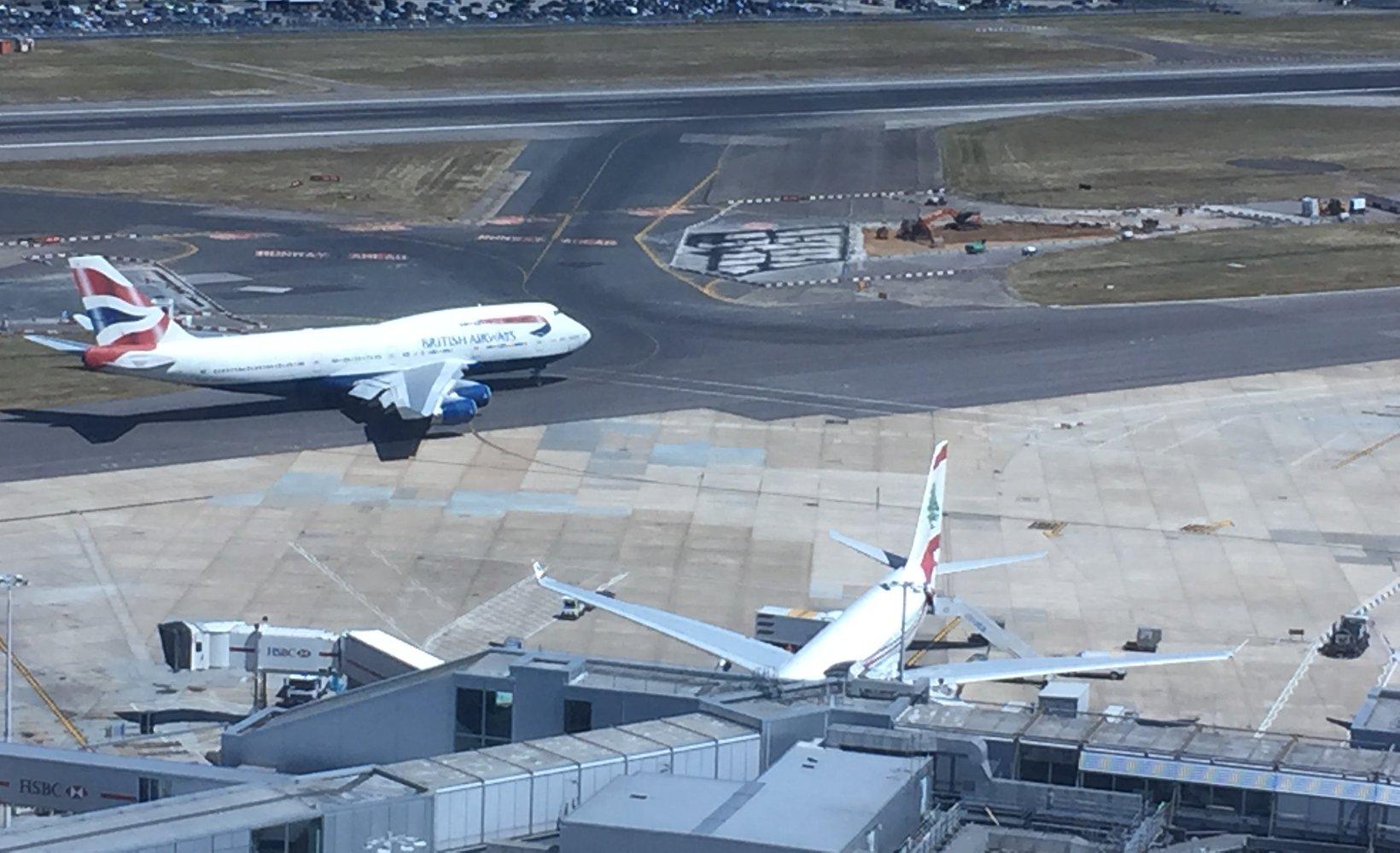 Runway repairs at Heathrow Airport