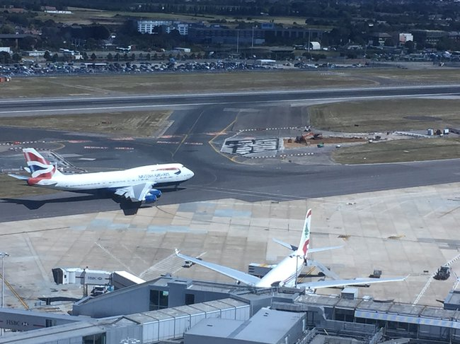 A view of the airfield environment at Heathrow