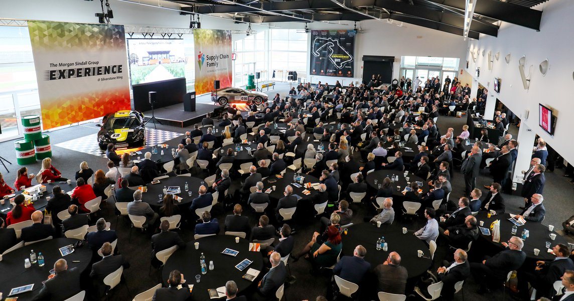 A view of a Morgan Sindall Group plc supply chain event, showing many people in attendance