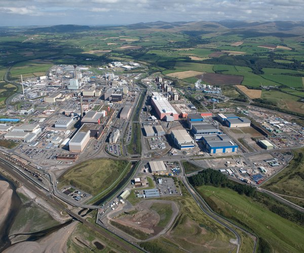 An aerial view of the Sellafield site