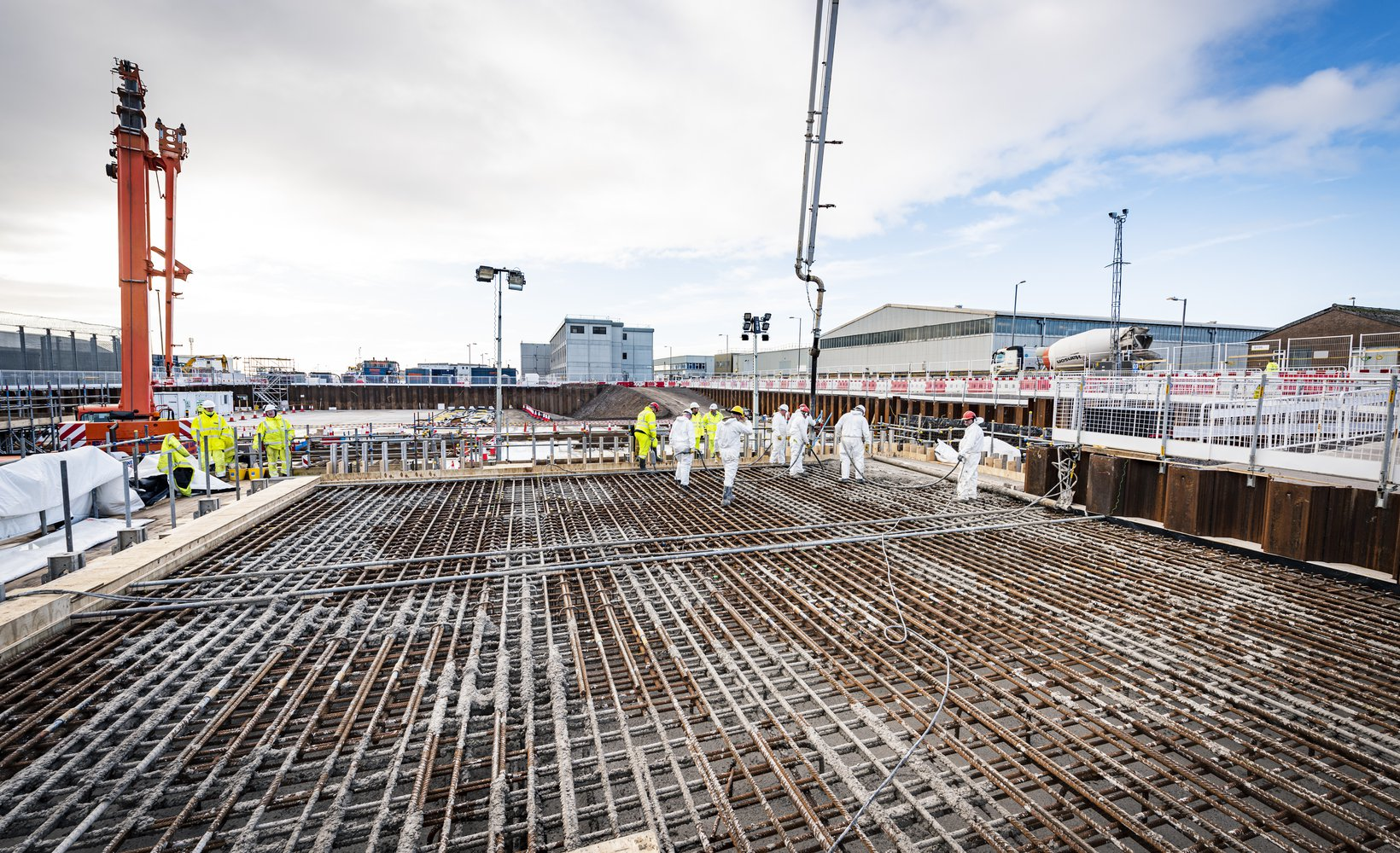 First concrete pour on a key project on the Sellafield site