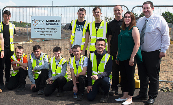 Morgan Sindall and TIGERS launch on-site training facility in Glasgow