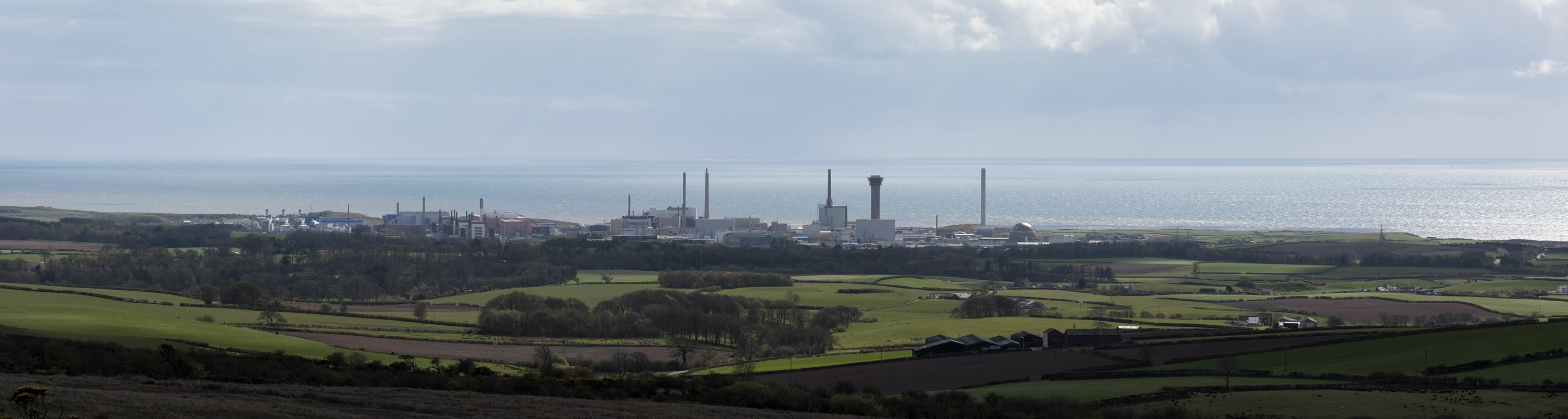 The Sellafield site viewed from Cold Fell, in the northern Pennines