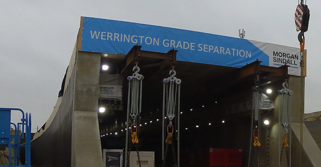 The concrete curved portal box at the Werrington Grade Separation project
